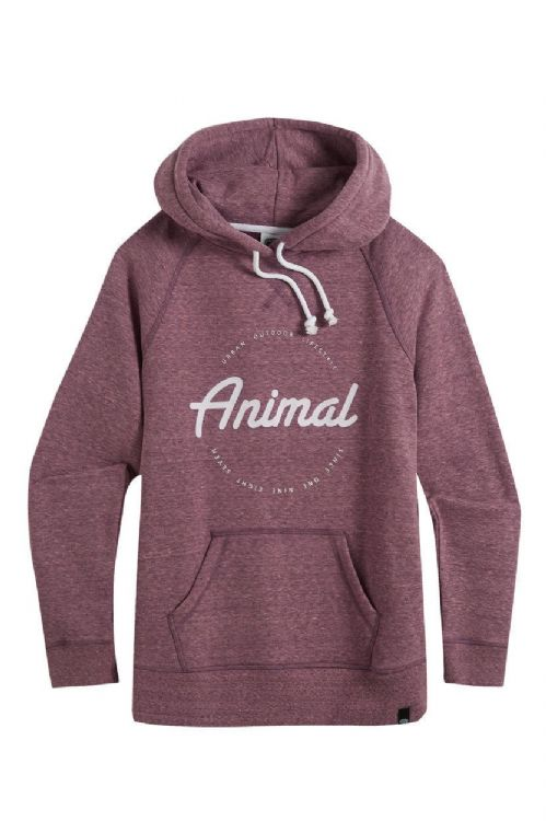 ANIMAL WOMENS HOODY.NEW SPECKLES PINK HOODIE PULLOVER HOOD JUMPER TOP 8W 392 P76